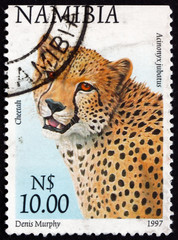Postage stamp Namibia 1997 cheetah, acinonyx jubatus, animal