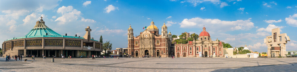 Basilica square of Our Lady of Guadalupe in Mexico city