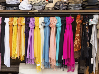 selection of scarves for sale