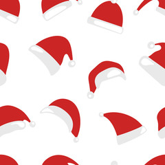 Christmas hat seamless pattern