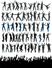 people dance silhouette packaged