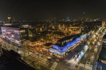 Night view over Tivoli in Copenhagen