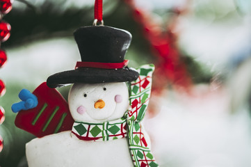 Décoration en forme de bonhomme de neige