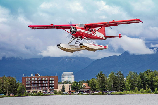 Float Plane taking off in Anchorage, Alaska