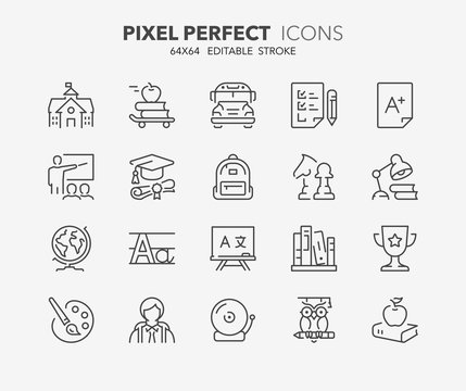education thin line icons 1