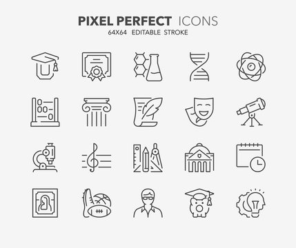 education thin line icons 2