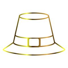 Pilgrim hat outline
