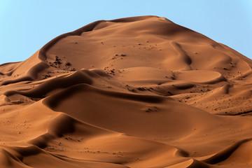 Close-up of sand dunes in the desert, Saudi Arabia