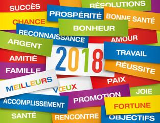 2018 - carte de vœux - vœux - bonne année - année - carte - messages - réussite - succès