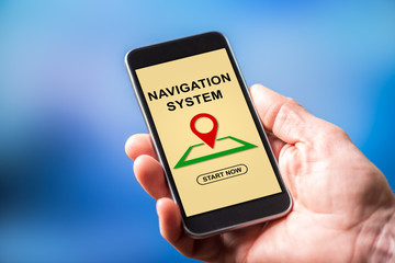 Navigation system concept on a smartphone