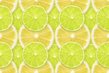 lime - lemon slices pattern