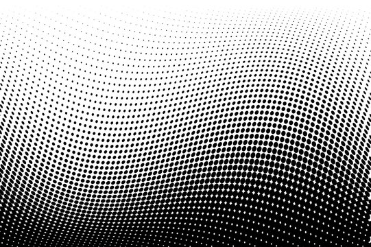Wavy  Halftone background. Comic dotted pattern. Pop art style. Backdrop with circles, dots, rounds design element