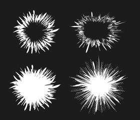 Comic speech bubble stars. Explosion vector