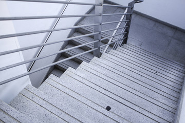 Poster Escalier Interior metal stairs
