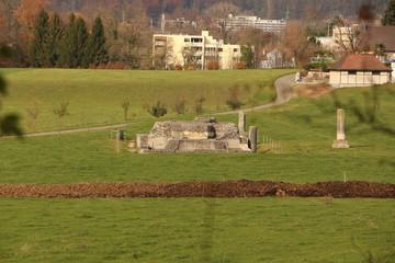 Reste des Tempels Grienmatt in der alten Römerstadt Augusta Raurica