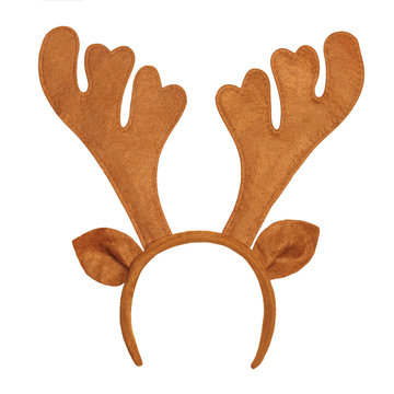 Toy antlers of a deer isolated on white background