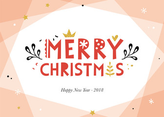 Wall Mural - Merry Christmas and Happy New Year background.