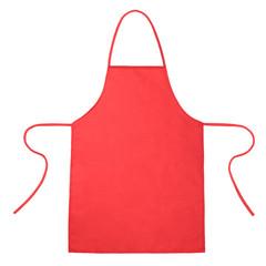 Red kitchen apron on white - fototapety na wymiar