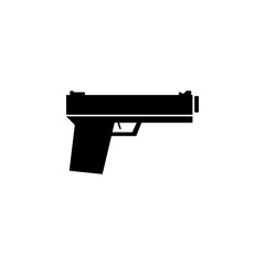 police gun silhouette icon. Police element icon. Premium quality graphic design. Signs, outline symbols collection icon for websites, web design, mobile app, info graphics