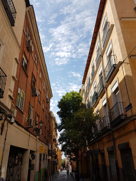 old street in rome italy