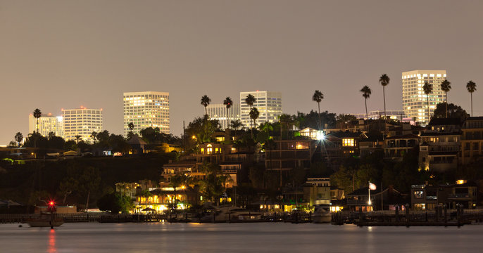 Newport Beach Night Scence