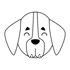 Dog head cartoon icon vector illustration graphic design