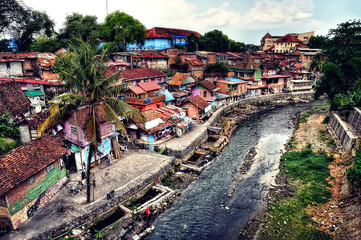 Slum in Yogyakarta, Indonesia