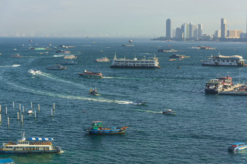 Pattaya city   in morning time ,  Thailand