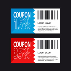 Discount Coupon Design - Shopping Concept