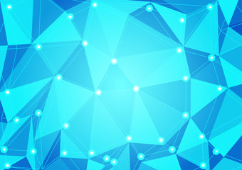 Abstract blue triangle polygon texture background