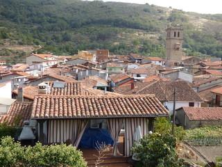 Garganta la Olla, pueblo medieval en la provincia de Cáceres (Extremadura,España)
