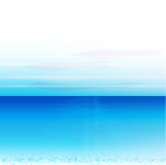 Blue ocean beach background vector