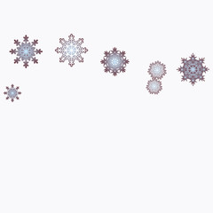 New Year background vector with falling snowflakes