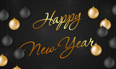 Happy New Year  background for holiday greeting card