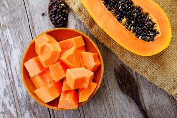 Healthy of papaya. smooth skin