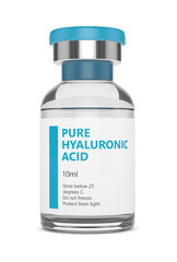 3d render of hyaluronic acid vial