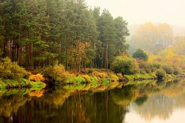 Podlasie-jesień nad rzeką Narew