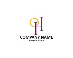 oh letter logo