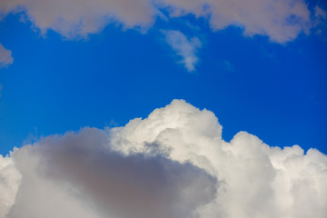 Big white and gray fluffy clouds