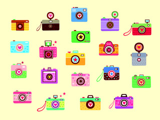 beautiful camera vector collection