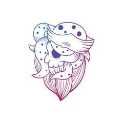 skull pirate vector illustration
