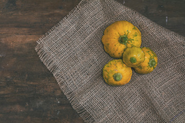Yellow spotted pattypan squash