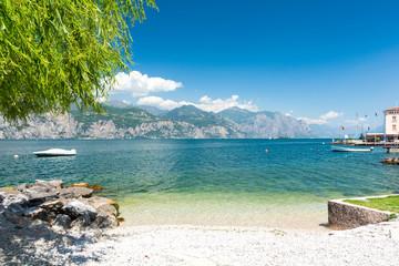 beach on Lake Garda, Italy