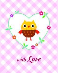 cute owl valentine greeting