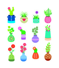 cute plant vector collection