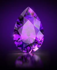 pear-shaped amethyst