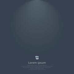 Dark gray gradient vector modern elegant with lighting on top of background.