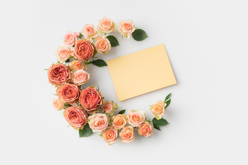 envelope surrounded by flowers