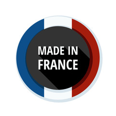 Made in France button illustration