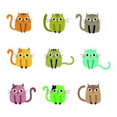 cute little kitten vector collection